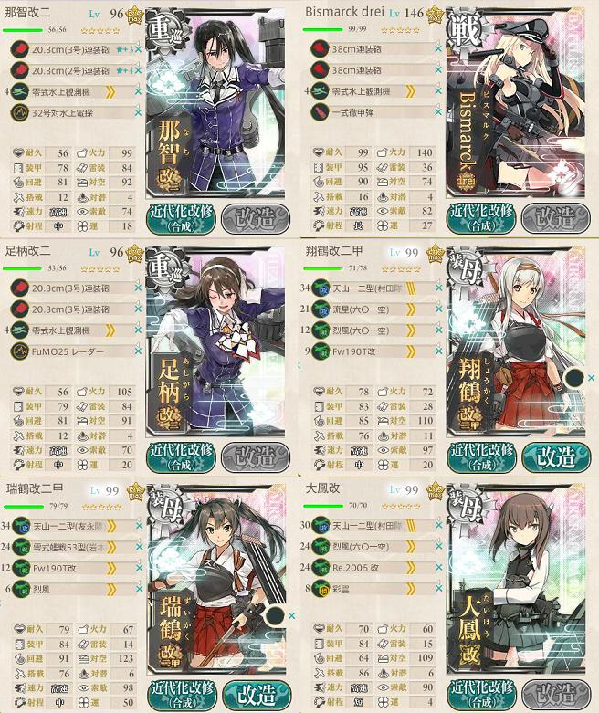 艦これ 2016年秋イベントE5スタートギミック第一艦隊