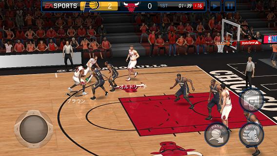 NBA LIVE MOBILE バスケットボール ゲーム画面