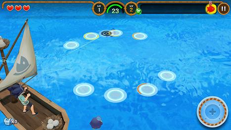 フィッシュアイランド2 釣り画面