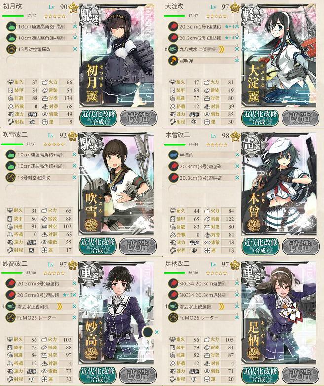 艦これ 2017冬イベント E2小笠原諸島哨戒線強化 第二艦隊編成