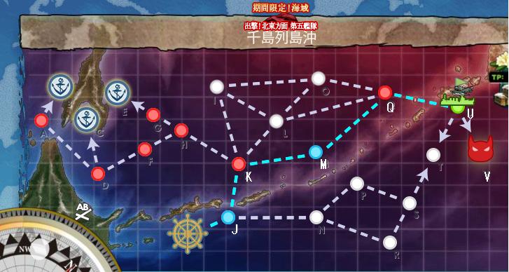艦これ 2017春イベントE3輸送 MAP