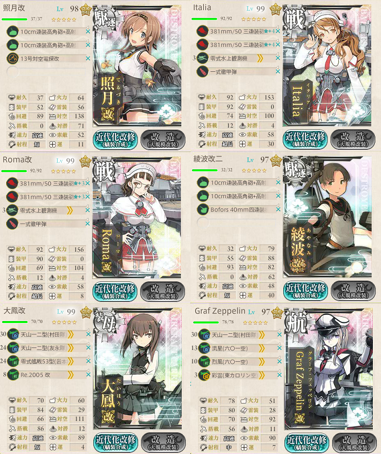 艦これ 2017夏 E5編成