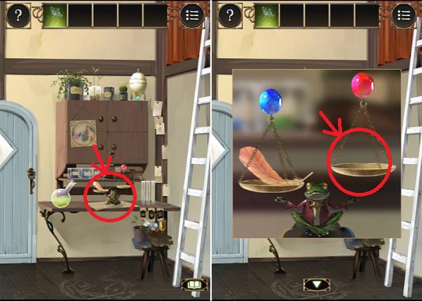 魔法使いの家から脱出 ステージ3手順11