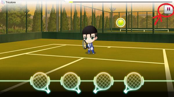 新テニスの王子様 RisingBeat チュートリアル試合1