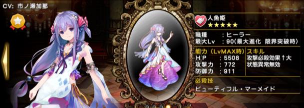 グリムノーツ Repage 人魚姫