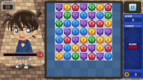 名探偵コナンパズル 盤上の連鎖(クロスチェイン) パズル画面